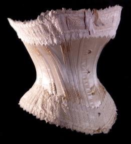 1890 Corset de mariée e soie