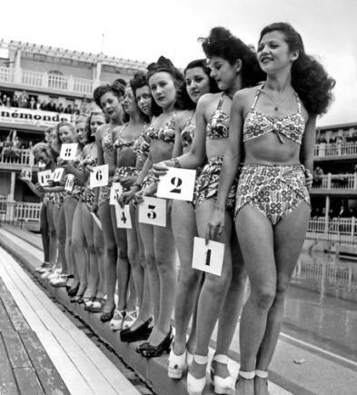 Une des premieres apparitions publiques du bikini