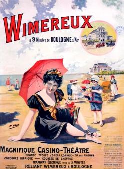 Affiche 1900 Wimereux
