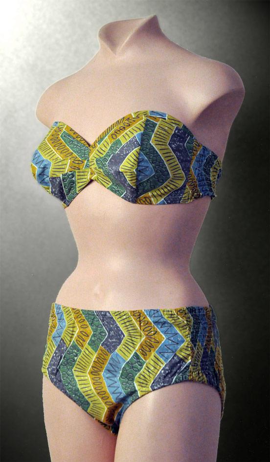 Bikini Swimwear vintage Collection Nuits de Satin