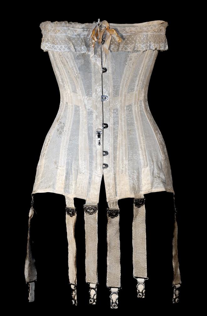 corset Redfern 1906 - corset droit devant