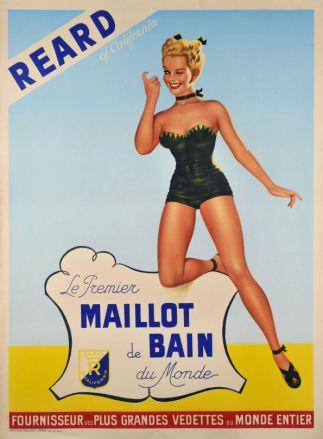 Affiche publicitaire REARD - Collection Nuits de Satin
