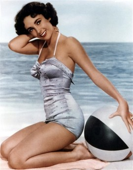 PIN-UP Liz Taylor maillot de bain swimsuit 50