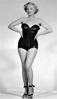 PIN-UP Marilyn Monroe maillot de bain swimsuit 1950s'