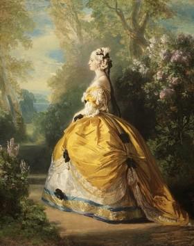 L_impératrice Eugénie en costume XVIIIème par F.X Winterhalter 1857