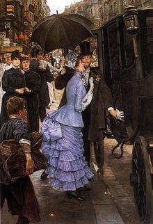 Robe des années 1883-1885 à queue d'écrevisse James Tissot