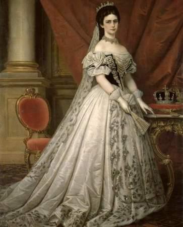 sissi-hongrie L_impératrice Elisabeth , reine de Hongrie.