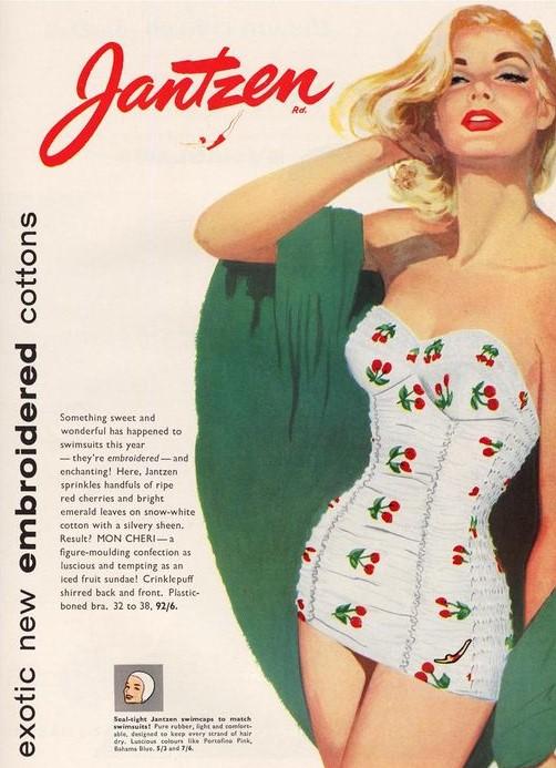 JANTZEN swimsuit ad 1950