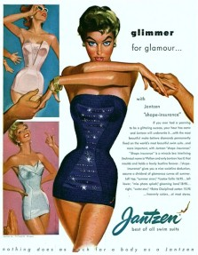 PIN-UP exposition maillot de bain Jantzen glitter